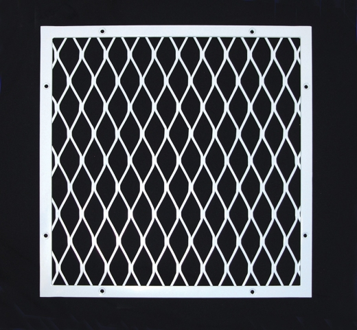 Diamond mesh grille for vent cover