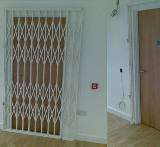 Retractable gates open & closed
