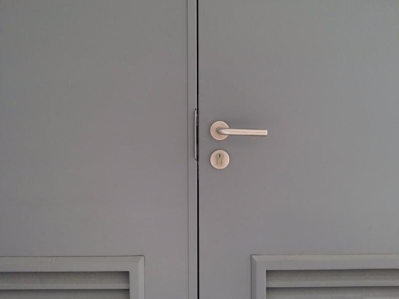 commercial painted steel door