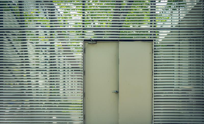 painted steel door used in home